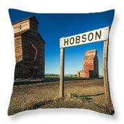 Downtown Hobson, Montana Throw Pillow
