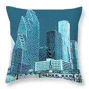 Downtown Houston Throw Pillow