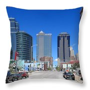 Downtown Kansas City Throw Pillow