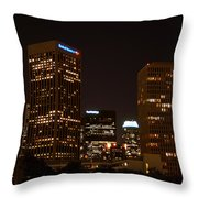 Downtown L.a. In Hdr Throw Pillow