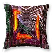 Downtown Light Warp Throw Pillow