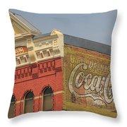 Downtown Livingston Montana Throw Pillow