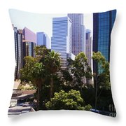 Downtown Los Angeles. 6th Street Throw Pillow