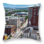 Downtown Manchester Throw Pillow