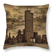 Downtown Manhattan Circa Nineteen Seventy Nine  Throw Pillow