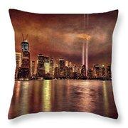 Downtown Manhattan September Eleventh Throw Pillow
