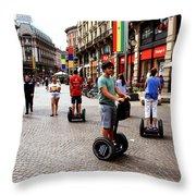 Downtown Milan Throw Pillow by Milan Mirkovic
