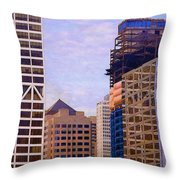 Downtown Milwaukee - 2 Throw Pillow
