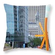 Downtown Milwaukee Throw Pillow