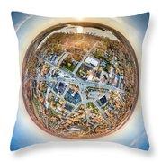 Downtown Mukwonago Little Planet Throw Pillow