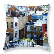 Downtown Nyc Rooftops Throw Pillow