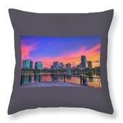Downtown Orlando Florida  Throw Pillow