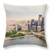 Downtown Pittsburgh Pennsylvania Throw Pillow