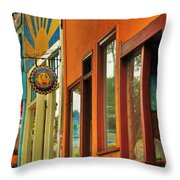 downtown Point Arena Throw Pillow