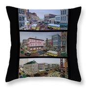 Downtown Portsmouth 1948 Throw Pillow
