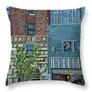 Downtown Raleigh - West Martin Street Throw Pillow