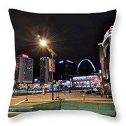 Downtown Saint Louis Throw Pillow