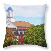 Downtown Salem Ma Throw Pillow