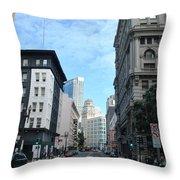 Downtown San Francisco Street Level Throw Pillow