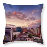Downtown San Jose From City Heights Throw Pillow