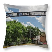 Downtown Silver City Throw Pillow