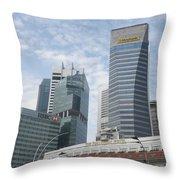 Downtown Singapore Throw Pillow