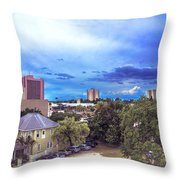 Downtown Skies Throw Pillow
