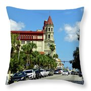 Downtown St Augustine Throw Pillow