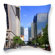 Downtown Tampa Fl, Usa Throw Pillow