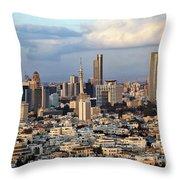 Downtown Tel-aviv Skyline Throw Pillow