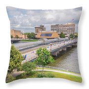 Downtown Waterloo Iowa  Throw Pillow
