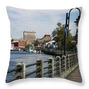 Downtown Wilmington Throw Pillow