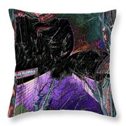 Downtown Windy Throw Pillow