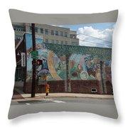 Downtown Winston Salem Series V Throw Pillow