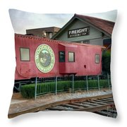 Downtown Woodstock Throw Pillow