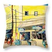 Downtown Wrightsville Beach Throw Pillow