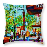 Downtowns Popping Throw Pillow