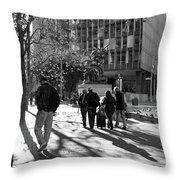 Downtownscape - Black And White Throw Pillow