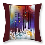 Dowstream With The Goddess Throw Pillow