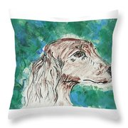 Doxie Blues Throw Pillow