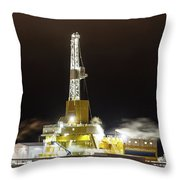 Doyon Drilling Rig And Camp Throw Pillow