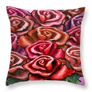 Dozen Roses Throw Pillow