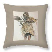 Dozo Warrior Throw Pillow