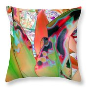 Abstracted Leaf Patterns #1  Ref. Dp67  Throw Pillow