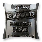 Dr. Bumbutt's Throw Pillow