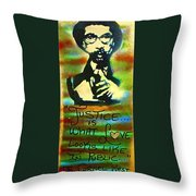 Dr. Cornel West Justice Throw Pillow by Tony B Conscious