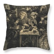 Dr Johnson At The Mitre Throw Pillow