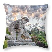 Dr. Kenneth Fox Sculpture Oldtown Auburn Throw Pillow