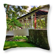 Dr. Knisley Covered Bridge Throw Pillow