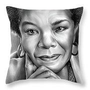 Dr Maya Angelou Throw Pillow